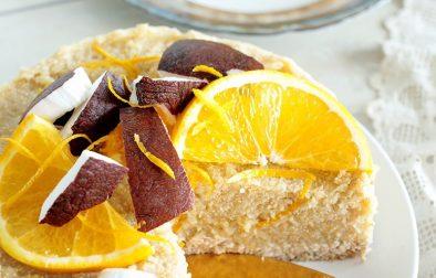 Сыроедческий Апельсиновый Пирог с Киноа