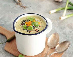 Сыроедческий Кукурузно-Авокадный Суп