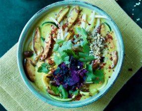 Сыроедческий Малазийский Суп-Лапша