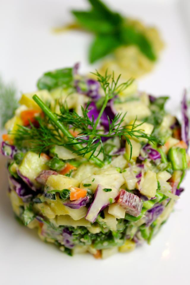 Сыроедческий Рубленый Сборный Салат