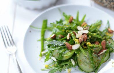 Сыроедческий Салат из Стручкового Горошка