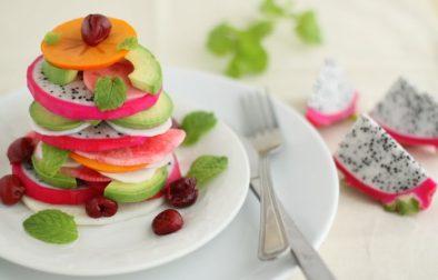 Сыроедческий Салат с Питахайей