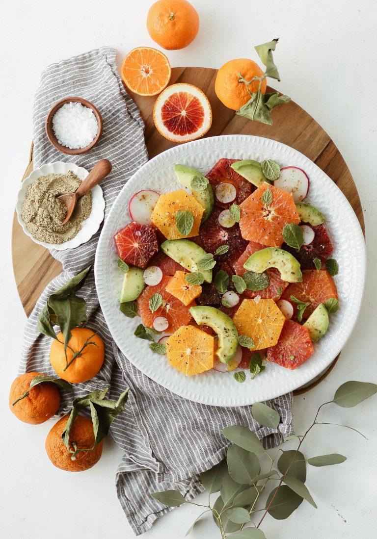 Сыроедческий Цитрусовый Салат со Специями