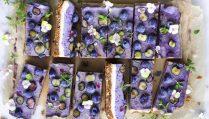 Сыроедческие Черничные Пирожные с Тимьяном