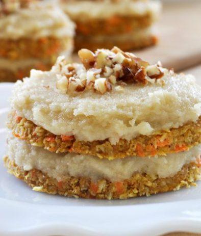 Сыроедческий Морковно-Ванильные Пирожные с Кремом