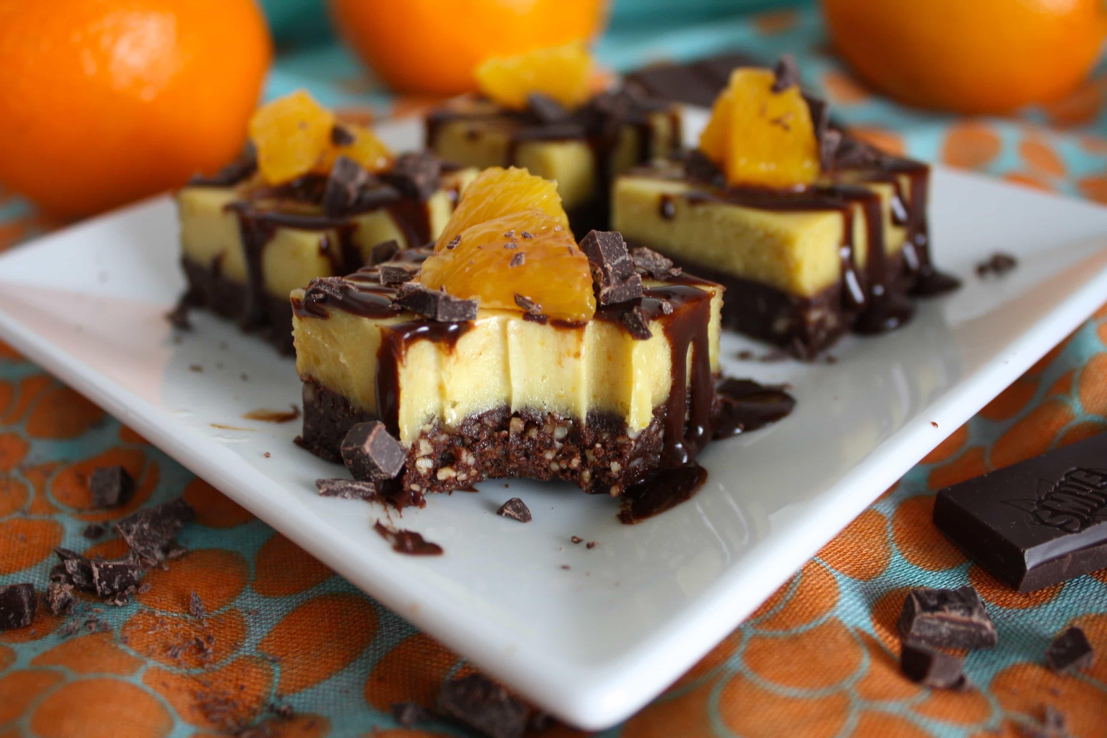 Сыроедческие Шоколадно-Апельсиновые Пирожные