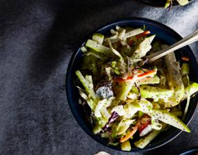 Сыроедческий Капустный Салат с Яблоками