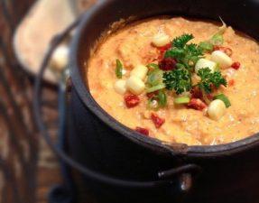 Сыроедческий Кукурузный Суп с Томатами