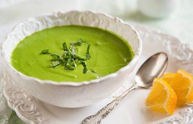Сыроедческий Шпинатно-Гороховый Суп с Мятой