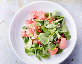 Сыроедческий Салат из Грейпфрута и Зелени